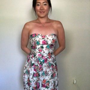 ModCloth floral strapless dress